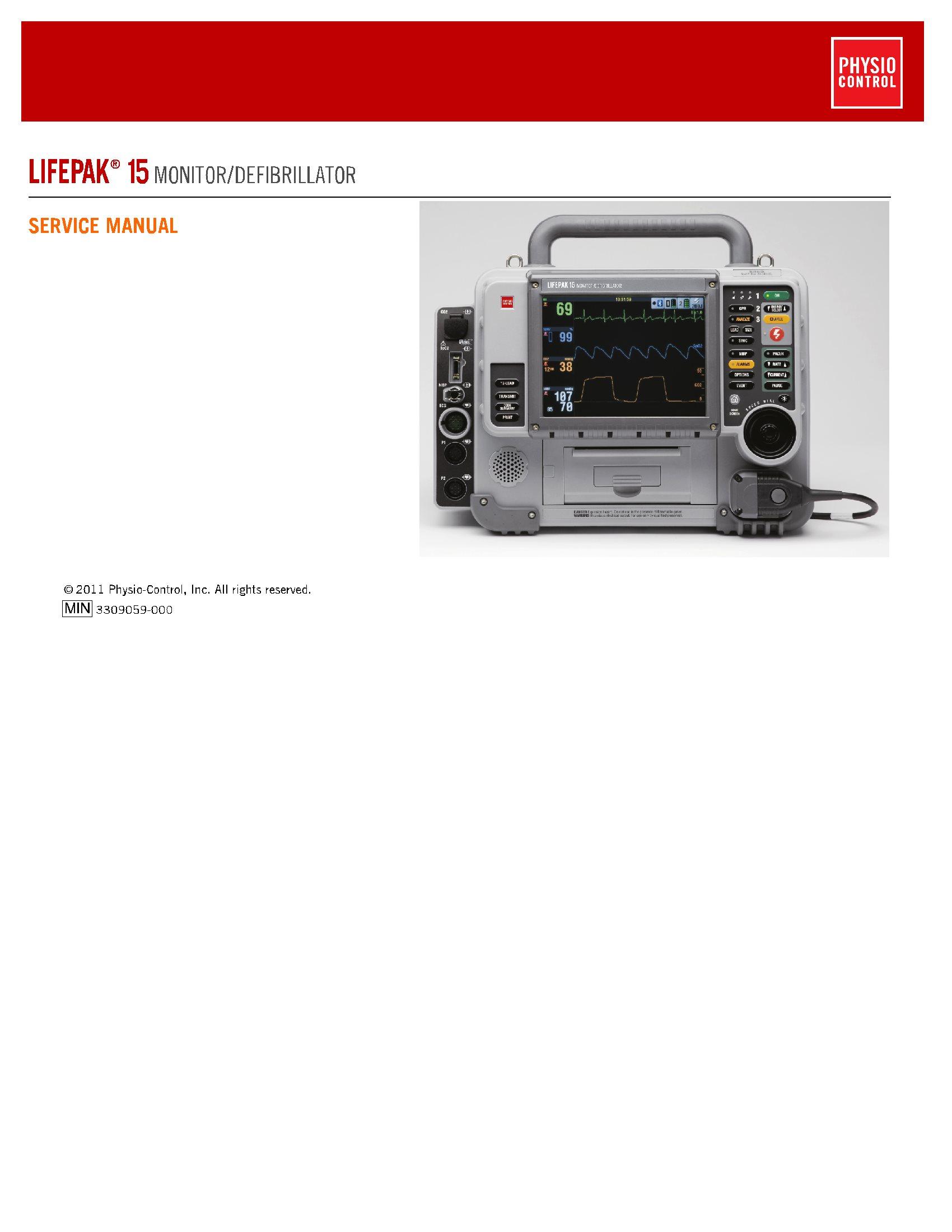 Physio Control Lifepak 15 Service manual