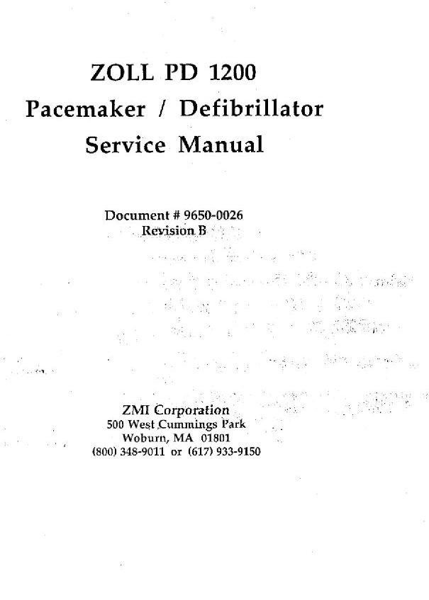 zoll pd 1200 service manual golden biomed rh goldenbiomed com zoll serie r service manual zoll aed pro service manual