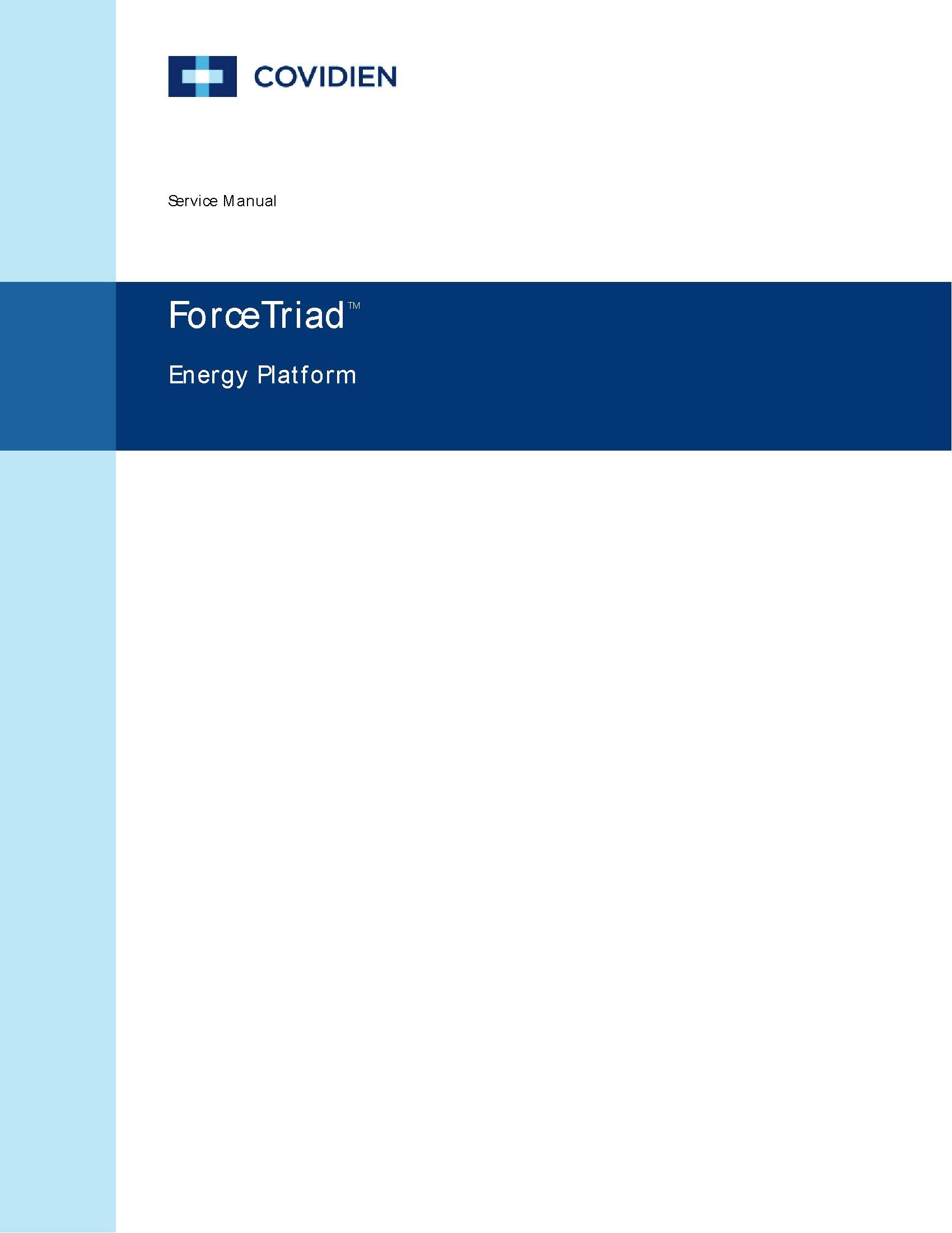 Covidien ForceTriad Service manual – Golden BioMed