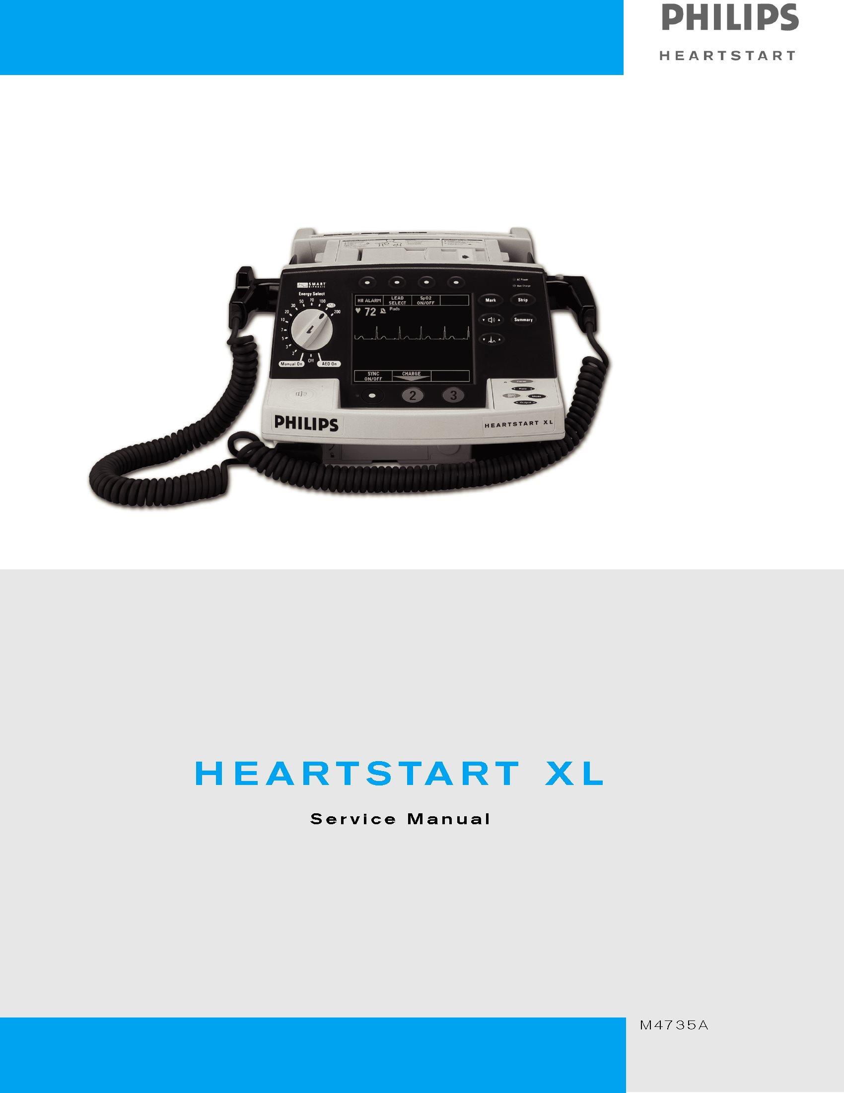 Philips HEARTSTART XL Service Manual