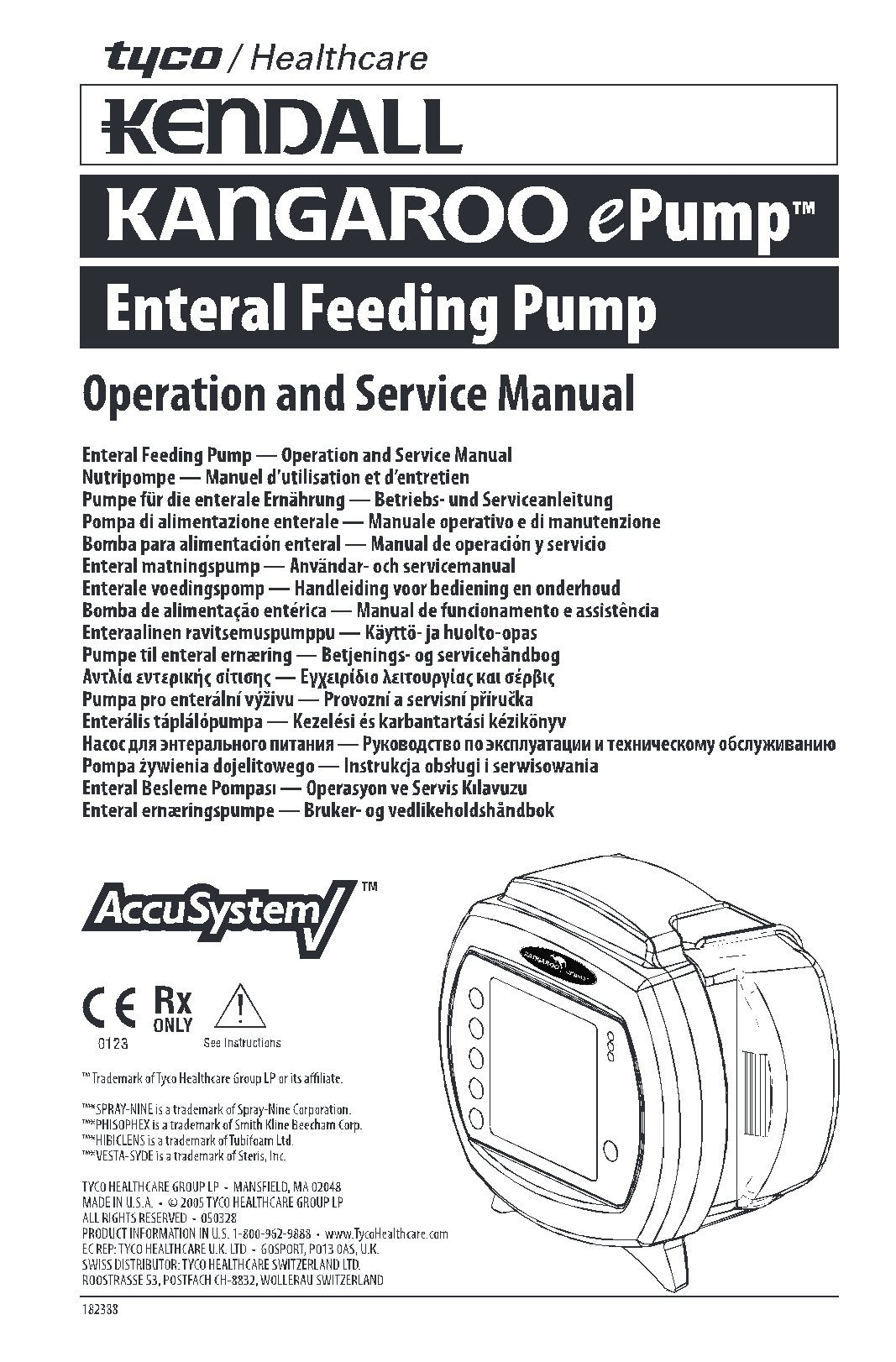Kendall Kangaroo ePump Service manual – Golden BioMed